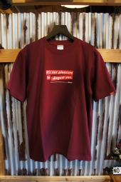 FUCT SSDD OUR PLEASURE TEE (BURGUNDY)
