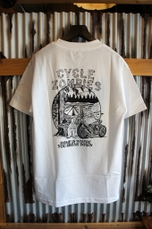 CYCLE ZOMBIES CAMP OUT JP Standard S/S T-Shirt (WHITE)