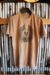 CYCLE ZOMBIES RIPPER Garage Made S/S T-Shirt (Coffee Wash White)