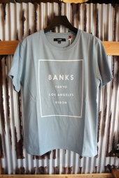BANKS LABEL TEE SHIRT (GLACIER BLUE)