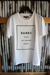 BANKS LABEL TEE SHIRT (OFF WHITE)