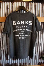 BANKS RETURN TEE SHIRT (DIRTY BLACK)