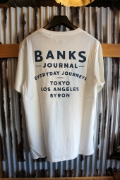 BANKS RETURN TEE SHIRT (OFF WHITE)