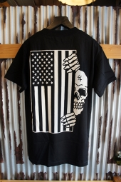 SKETCHY TANK FLAG TEE (BLACK)