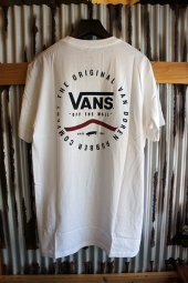 VANS ORIGINAL RUBBER CO T-SHIRT (WHITE/DRESS BLUES)