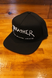 THRASHER MAGAZINE NEW RELIGION SNAPBACK CAP (BLACK)