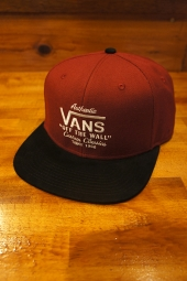 VANS AUTHENTIC VANS  SNAPBACK (RHUBARB-BLACK)