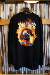 VANS × THRASHER CARDIEL LONG SLEEVE T-SHIRT (BLACK)