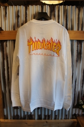 VANS × THRASHER CHECKER LONG SLEEVE T-SHIRT (WHITE)
