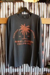 BANKS POINT L/S TEE SHIRT (DIRTY BLACK)