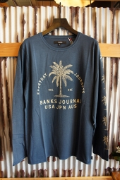 BANKS POINT L/S TEE SHIRT (INSIGNIA BLUE)
