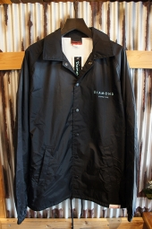 DIAMOND SUPPLY CO STONE CUT COACHES JACKET (BLACK)