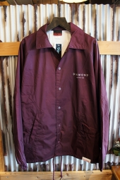 DIAMOND SUPPLY CO STONE CUT COACHES JACKET (BURGUNDY)