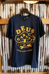 DEUS EX MACHINA GARAGE TEE (NAVY)