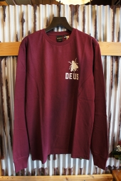 DEUS EX MACHINA TEETH LS TEE (MAROON)