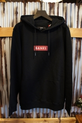BANKS FORUM PULLOVER FLEECE (DIRTY BLACK)
