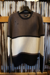 AFENDS Proof Cotton Yarn Dyed Waffle Knit (Nicotine & Coffee)