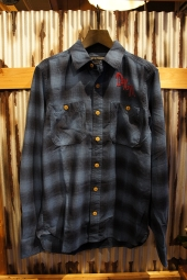 DEUS EX MACHINA SERVICE FLANNEL CHECK SHIRT (BLUE CHECK)