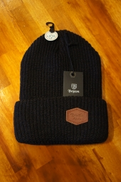 BRIXTON TRIG BEANIE (NAVY/BROWN)