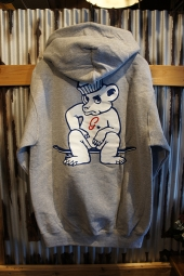 GRIZZLY × Champion LEADER OF THE PACK HOODIE (GRAY)