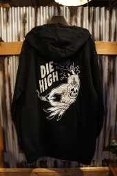 SKETCHY TANK DIE HIGH PULLOVER (BLACK)