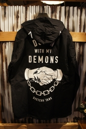SKETCHY TANK DEMONS HOODED COACHES (BLACK)