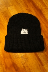 RIPNDIP LORD NERMAL KNIT BEANIE (BLACK)