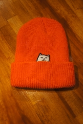 RIPNDIP LORD NERMAL RIBB BEANIE (SAFETY ORANGE)