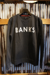 BANKS CLASSIC FLEECE (DIRTY BLACK)