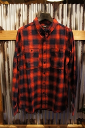 BANKS MOUNTAIN L/S WOVEN SHIRT (BANKS RED)