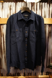 BRIXTON PETERSON L/S OVERSHIRT (NAVY)