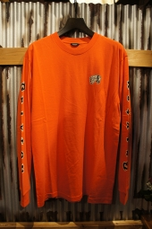 BRIXTON PRIMO L/S STANDARD TEE (ORANGE/BLACK)
