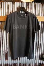BANKS CLASSIC TEE SHIRT (DIRTY BLACK)