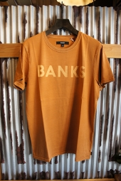 BANKS CLASSIC TEE SHIRT (BURNT KHAKI)