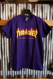 THRASHER MAGAZINE FLAME LOGO T-SHIRT (PURPLE)