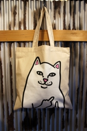 RIPNDIP OG LORD NERMAL TOTE BAG (NATURAL CANVAS)