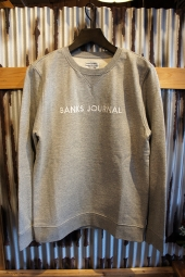 BANKS JOURNAL LABEL FLEECE (HEATHER GREY)
