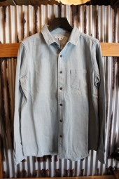 BANKS JOURNAL SPENCE L/S WOVEN SHIRT (GLACIER BLUE)