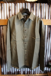 AFENDS OVERTHROW HEMP LONG SLEEVE SHIRTS  (Dusty Olive)