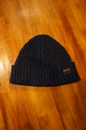 DEUS EX MACHINA WHISKEY BEANIE (NAVY MIX)