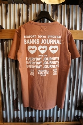 BANKS JOURNAL LOVE STONED TEE SHIRT (FADED PEACH)