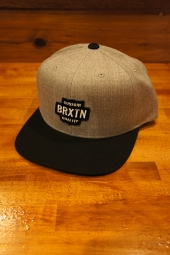 BRIXTON GARTH SNAPBACK (LIGHT HEATHER GREY/BLACK)