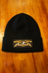 ANTIHERO EAGLE PATCH CUFF Beanie (BLACK)