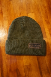 ANTIHERO STOCK EAGLE LABEL CUFF Beanie (OLIVE)