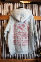 DEUS EX MACHINA SUNBLEACHED IMPERMANENCE HOODIE (SKY-ROSE)