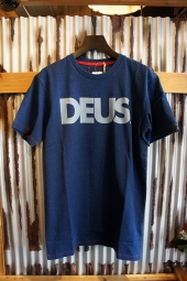 DEUS EX MACHINA ALL CAPS INDIGO TEE (DARK INDIGO)