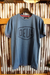 DEUS EX MACHINA SHIELD INDIGO TEE (LIGHT INDIGO)