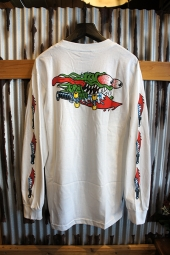 SANTA CRUZ SLASHER SWORDS L/S T-SHIRTS (WHITE)