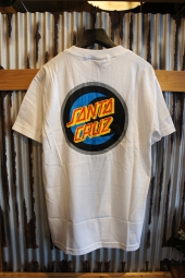SANTA CRUZ MOON DOT BADGE T-SHIRTS (WHITE)