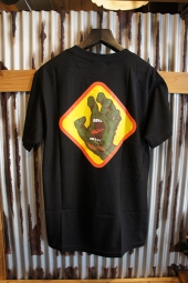 SANTA CRUZ SCREAMING HAND BADGE T-SHIRTS (BLACK)